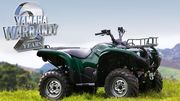 Two year warranty on all new Yamaha Grizzly ATV's