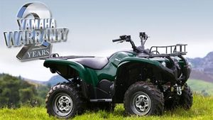Two year warranty on all new Yamaha Grizzly ATV's -