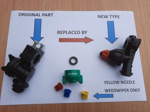 Logic Sprayer Sprayline Nozzle Parts -
