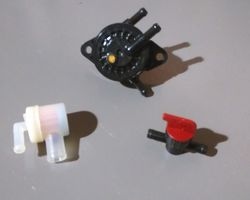 Logic Flail/Rotary Mower Fuel Pump, Tap and Filter