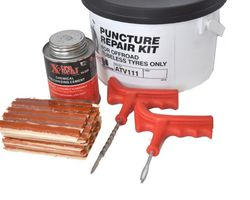 Quad puncture repair kit