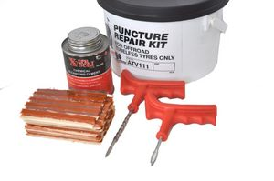 Quad puncture repair kit -