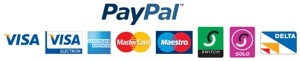 Pay with credit or debit cards at Paypal